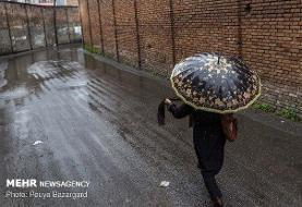 بارش پراکنده در ارتفاعات البرز/شمال خنک می شود