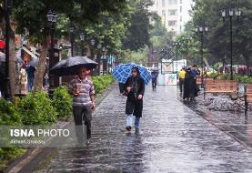 نوار شمالی کشور بارانی می شود