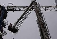 سقوط جرثقیل تاور کرین در بزرگراه ارتش +عکس