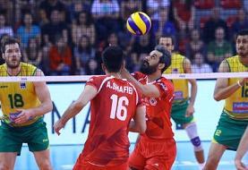 پیروزی تیم والیبال ایران مقابل استرالیا در دیداری تدارکاتی