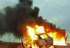 حادثه در کمربندی یاسوج / ۳ نفر در آتش سوختند +تصاویر