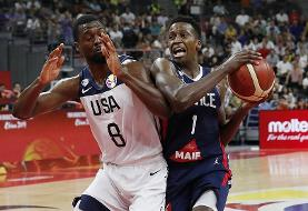 فرانسه با شکست آمریکا در جام جهانی بسکتبال شگفتیساز شد