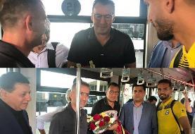 تصویری از دیدار ویلموتس و اعضای تیم پارسجنوبی در فرودگاه