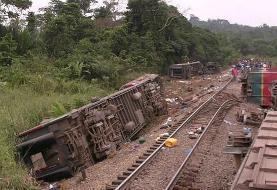 ۵۰ کشته بر اثر خروج قطار از ریل در کنگو