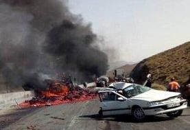 تصادف سمند، مرگ دلخراش یک مادر و دو کودک را در آتش رقم زد