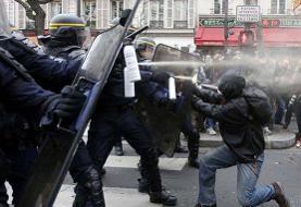خشونت پلیس فرانسه علیه معترضان؛ دهها نفر بازداشت شدند