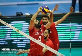 پیروزی تیم ملی ایران مقابل استرالیا در ست نخست