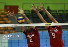 تیم ملی والیبال ایران به استرالیا باخت