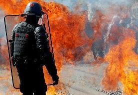 اعتراضات جلیقه زردها در فرانسه بار دیگر به خشونت کشیده شد