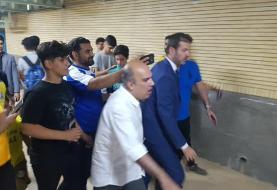 بی نظمی در مسجد سلیمان استراماچونی را فراری داد (+عکس)