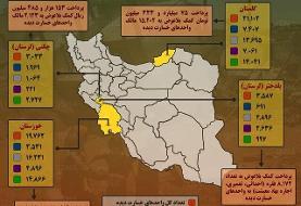 اینفوگرفی / اقدامات بنیاد مسکن در مناطق سیلزدۀ فروردین ۹۸