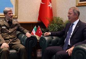 وزرای دفاع ایران و ترکیه دیدار و گفتگو کردند