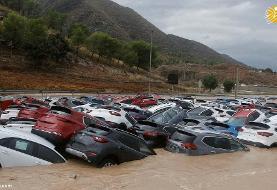 (تصاویر) بلایی که بر سر خودروهای لوکس و گرانقیمت نازل شد!
