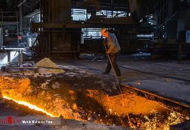 تصاویر جذاب از مواد مذاب کارخانه ذوب آهن