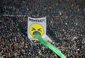 اعتراض جالب هواداران سن پائولی به برگزاری بازیها در شروع هفته + عکس