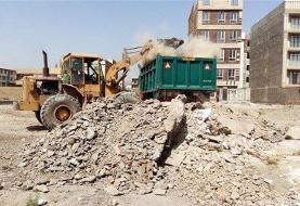 نخالههای ساختمانی معضل محیطزیستی زاهدان