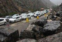 ترافیک نیمه&#۸۲۰۴;سنگین در محورهای چالوس و هراز