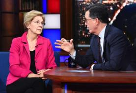 Stephen Colbert Desperately Tries to Get Elizabeth Warren to Bad-Mouth Joe Biden
