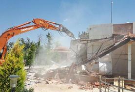 تخریب بنای ۱۷۳۰ متری غیرمجاز در منطقه ۲۲