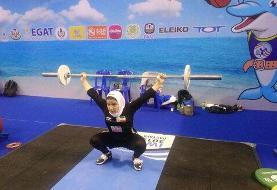ششمی بانوی وزنه بردار ایران در گروه D وزنه برداری قهرمانی جهان