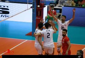 صعود تیم ملی والیبال ایران به نیمه نهایی با پیروزی مقابل چین تایپه