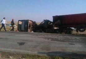 ۸ کشته و ۱۸ مصدوم بر تصادف مینیبوس و تریلی در اینچه برون