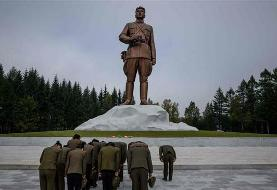 Monumental construction project underway in remote North Korea