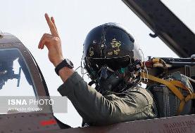 تصویری از تمرین مشترک تیزپروازان نیروی هوایی ارتش و سپاه بر فراز خلیج فارس
