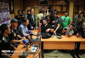 نشست خبری سرمربیان پرسپولیس و استقلال