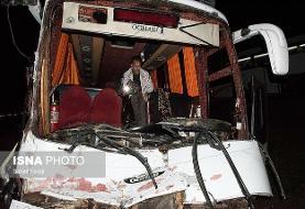 افزایش کشتهشدگان تصادف مینیبوس و کامیون در گلستان به ۱۵ تن