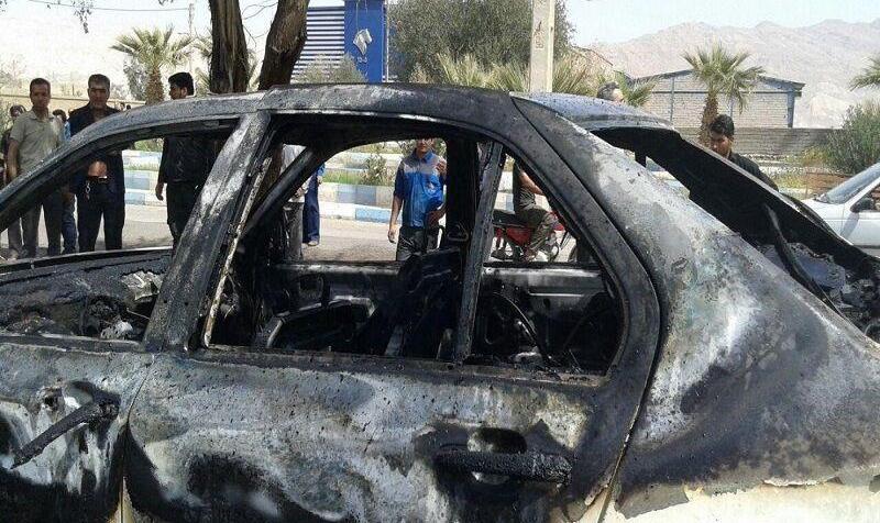 مرد جوان با نقاب خودرو گرانقیمت معاون شهردار آبادان را آتش زد