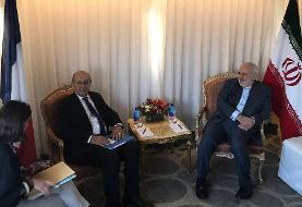 دیدار وزیر خارجه فرانسه با ظریف+عکس