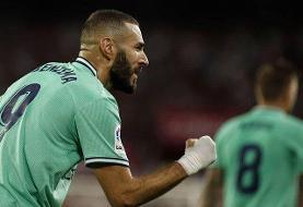 پیروزی رئال مادرید به لطف گل بنزما/ اتلتیک صدرنشین لالیگا شد