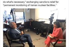 ظریف در گفتوگو با سیانان: روحانی به شرط لغو تحریمها با ترامپ دیدار میکند