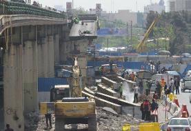 عملیات اجرایی سطح صفر پروژه پل گیشا پایتخت پایان یافت