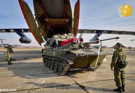 (تصاویر) نابودی دو تانک روس پس از باز نشدن چتر نجات
