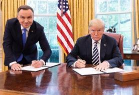 ترامپ جزئیات اعزام ارتش آمریكا به لهستان را فاش كرد