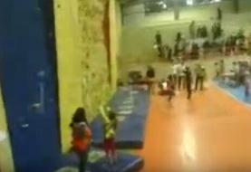 سقوط سنگنورد ۸ ساله اصفهانی + فیلم