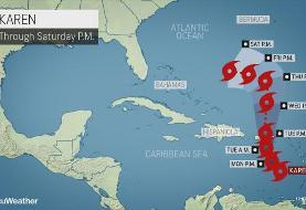 Tropical Storm Karen to unleash heavy rain, trigger flood risk from Puerto Rico to U.S. and ...