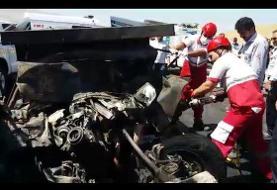 تصادف مرگبار دو دستگاه وانت تویوتا با ٢٨ کشته و ٢١ مصدوم