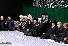 مراسم عزاداری شب عاشورای حسینی در محضر رهبر معظم انقلاب برگزار شد