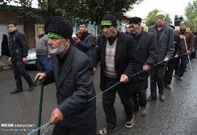 تصاویری از عزاداری هیأت روشندلان در روز تاسوعای حسینی