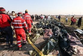 شناسایی هویت پیکر ۵۰ نفر از جانباختگان هواپیمای اوکراینی