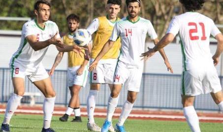 برگزاری آخرین تمرین تیم فوتبال امید ایران پیش از بازی با چین