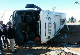 واژگونی اتوبوس ٣٨ مصدوم و کشته بر جای گذاشت
