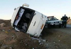 واژگونی اتوبوس در بردسیر/ ۷ کشته و ۲۹ مصدوم