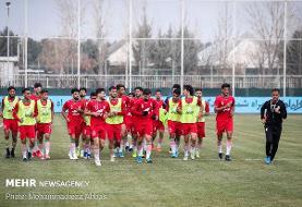 غیبت دو بازیکن فوتبال امید در آخرین تمرین قبل از بازی با چین