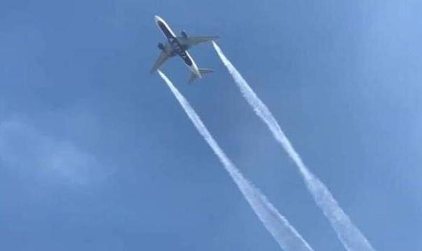 فیلم: بارش بنزین هواپیما بر سر دهها دانش آموز در آمریکا!
