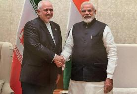 ظریف با نخست وزیر هند دیدار کرد/ همکاریهای اقتصادی محور رایزنی
