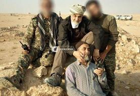 (عکس) تصویری دیده نشده از سردارسلیمانی پس از نابودی داعش